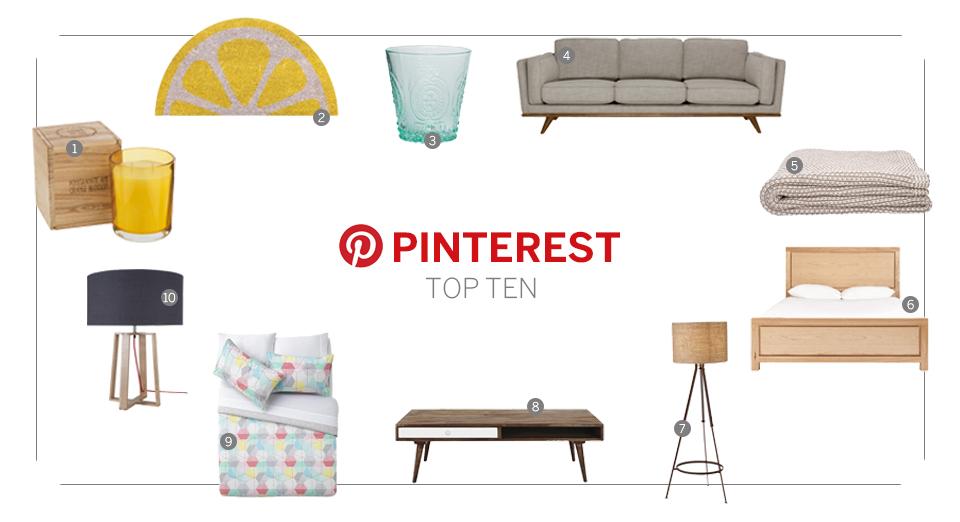Pinterest top 10 July